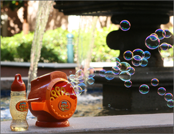Fetch-a-bubble in action