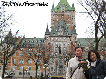 family picture at Chateau Frontenac